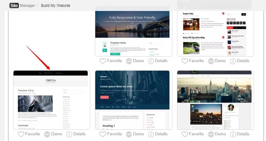 pick a theme for your free website