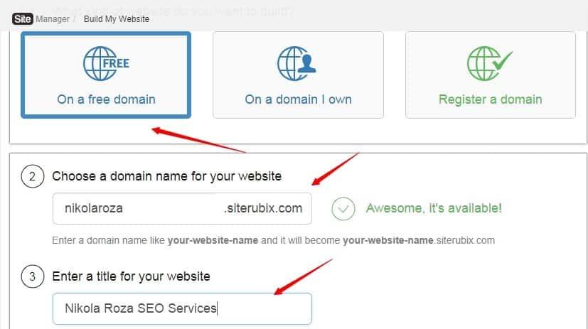 Build a free website with SiteRubix