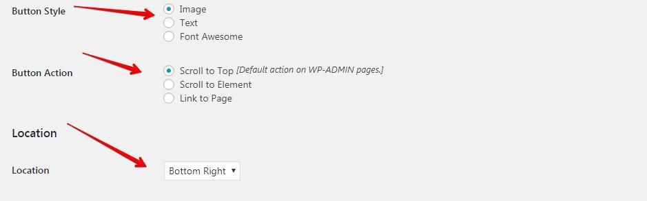 Setting for WPfront plugin
