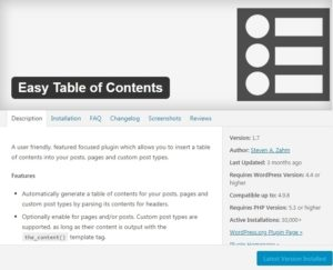 How To Add Content Tables To Your Wordpress Posts And Pages Tutorial
