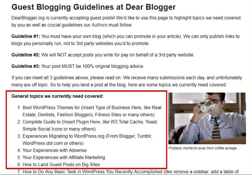 Guest post guidelines for DearBlogger.com- read them carefully
