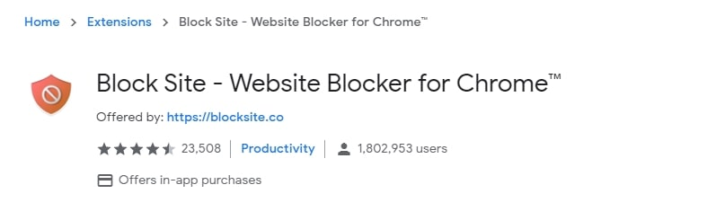 Block Site from Chrome