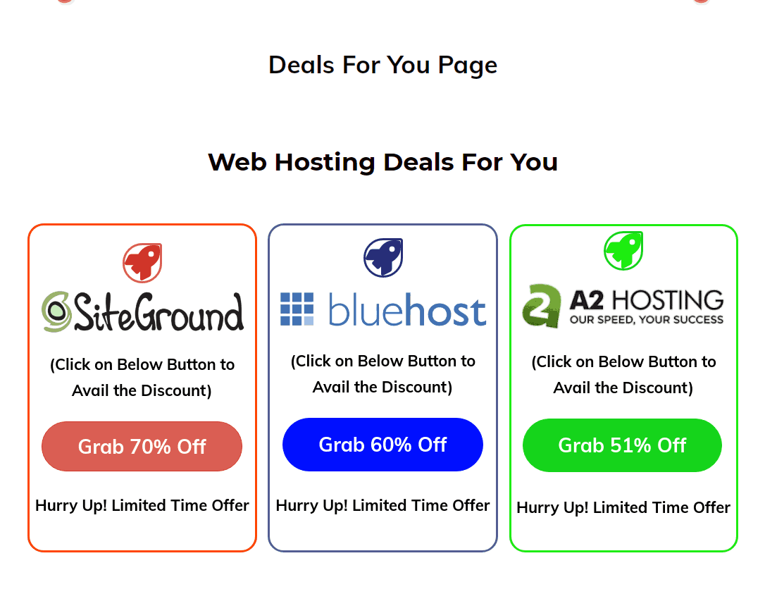 Resource page full with affiliate links