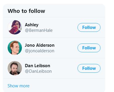 twitter follow suggestions