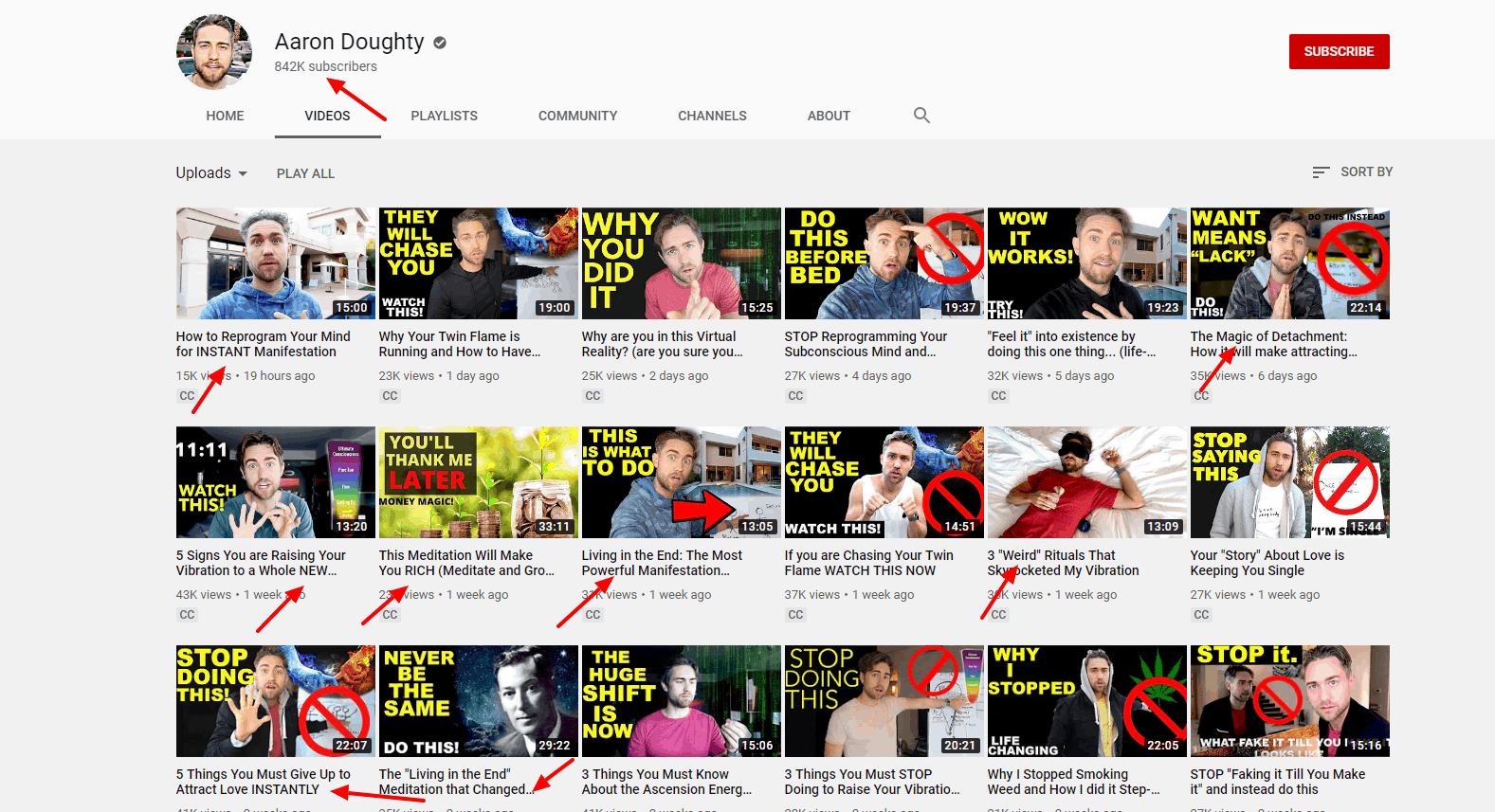 Power words in YouTube video headlines