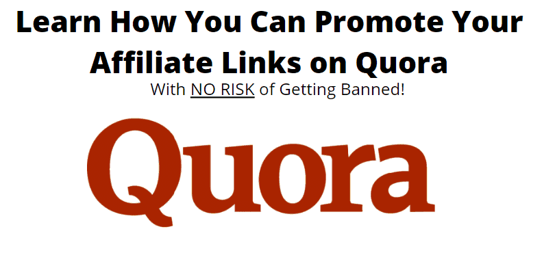 How to promote affiliate links on Quora