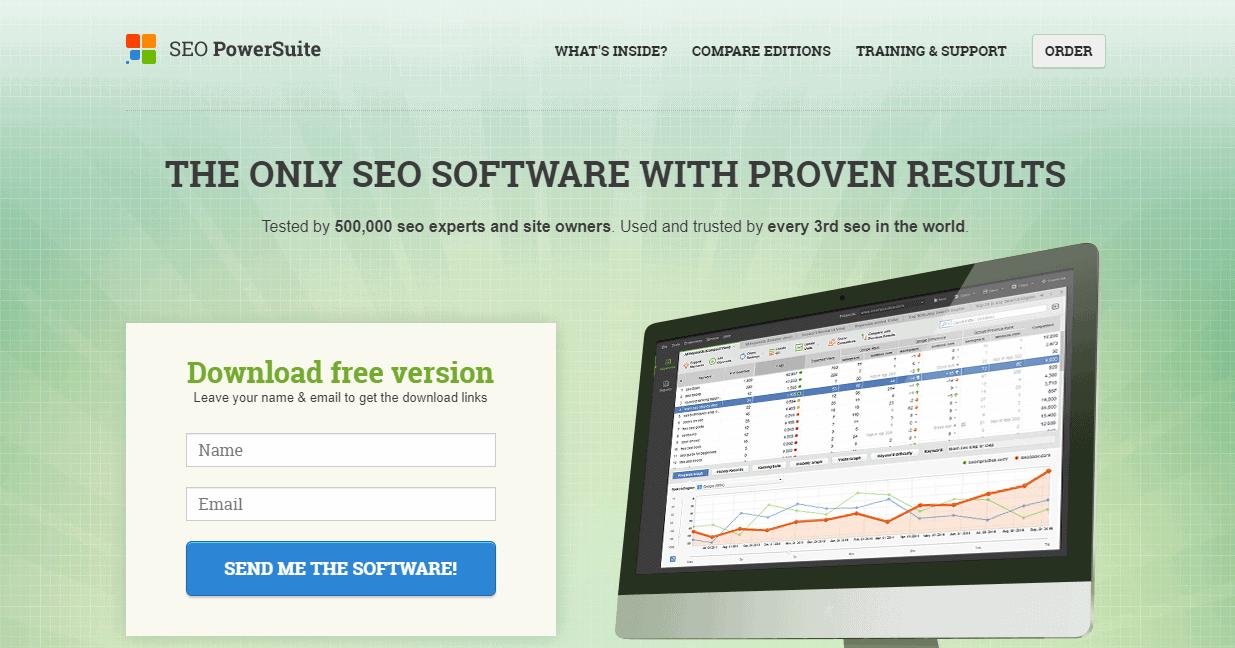 SEO PowerSuite homepage