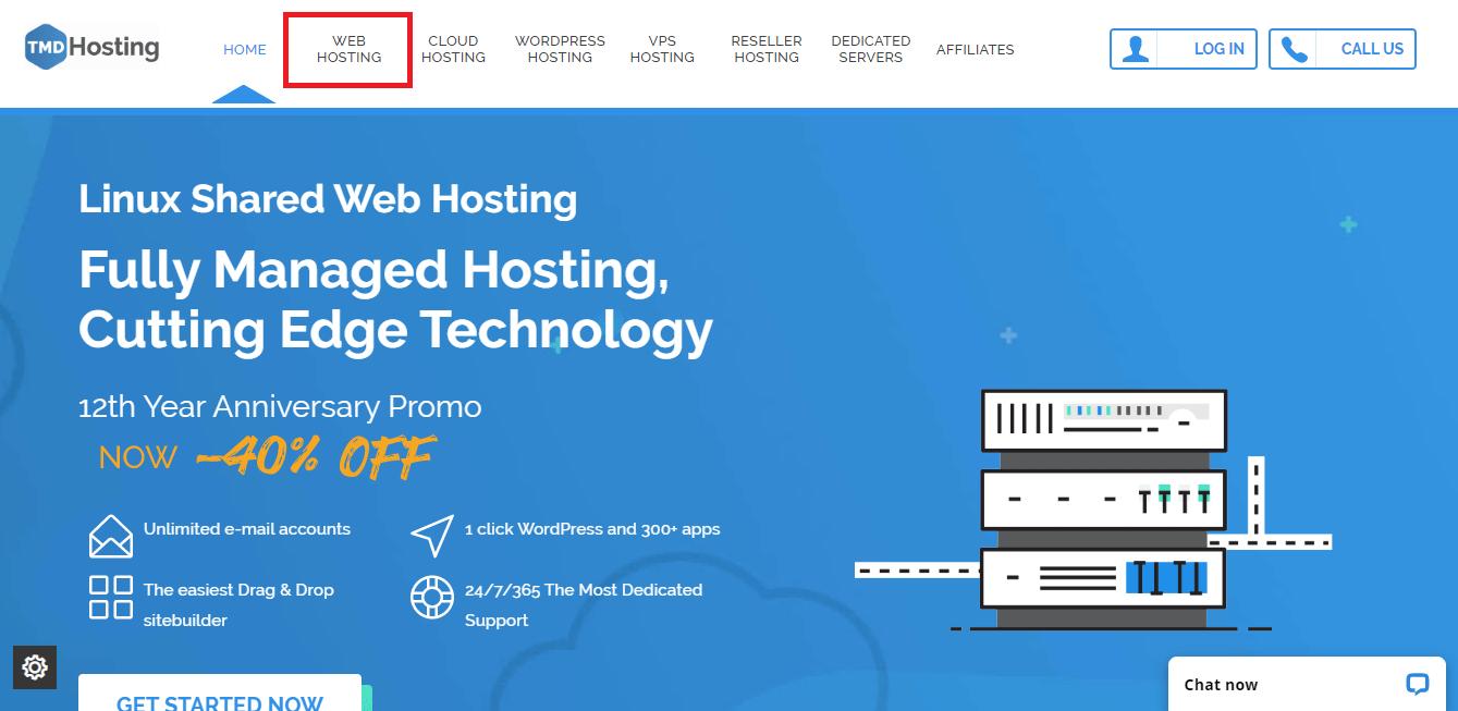 TMDHosting homepage