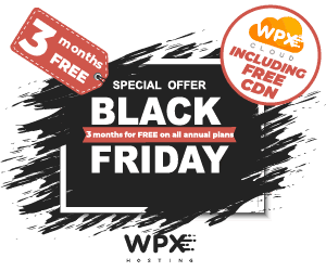 WPX Black Friday hosting deal for 2020