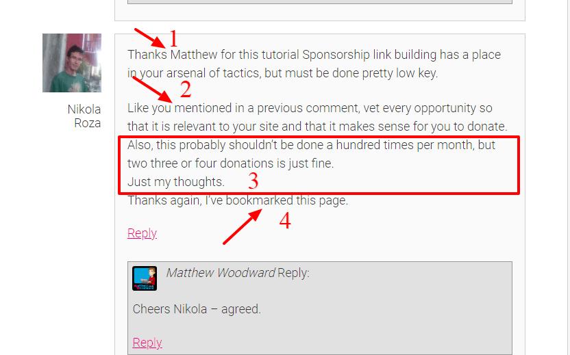 Good comment example breakdown