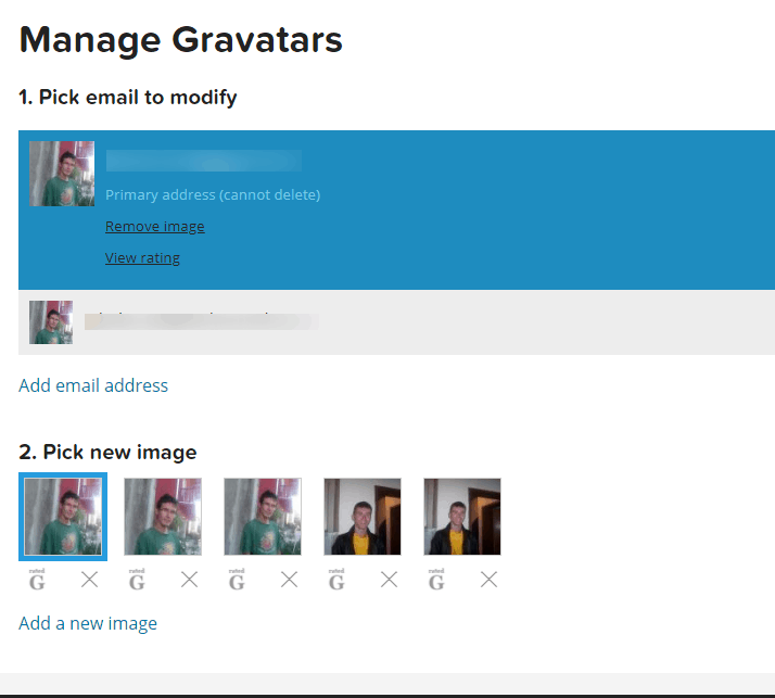 Gravatar image helps you appear genuine
