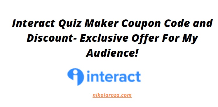 interact coupon code and discount 2021