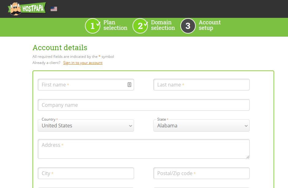 Buy HostPapa hosting plan