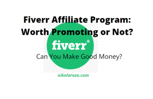 Fiverr affiliate program review