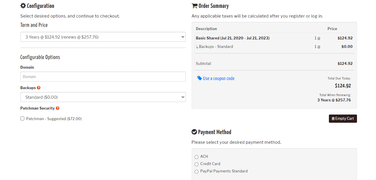 KnownHost fill in details and buy.