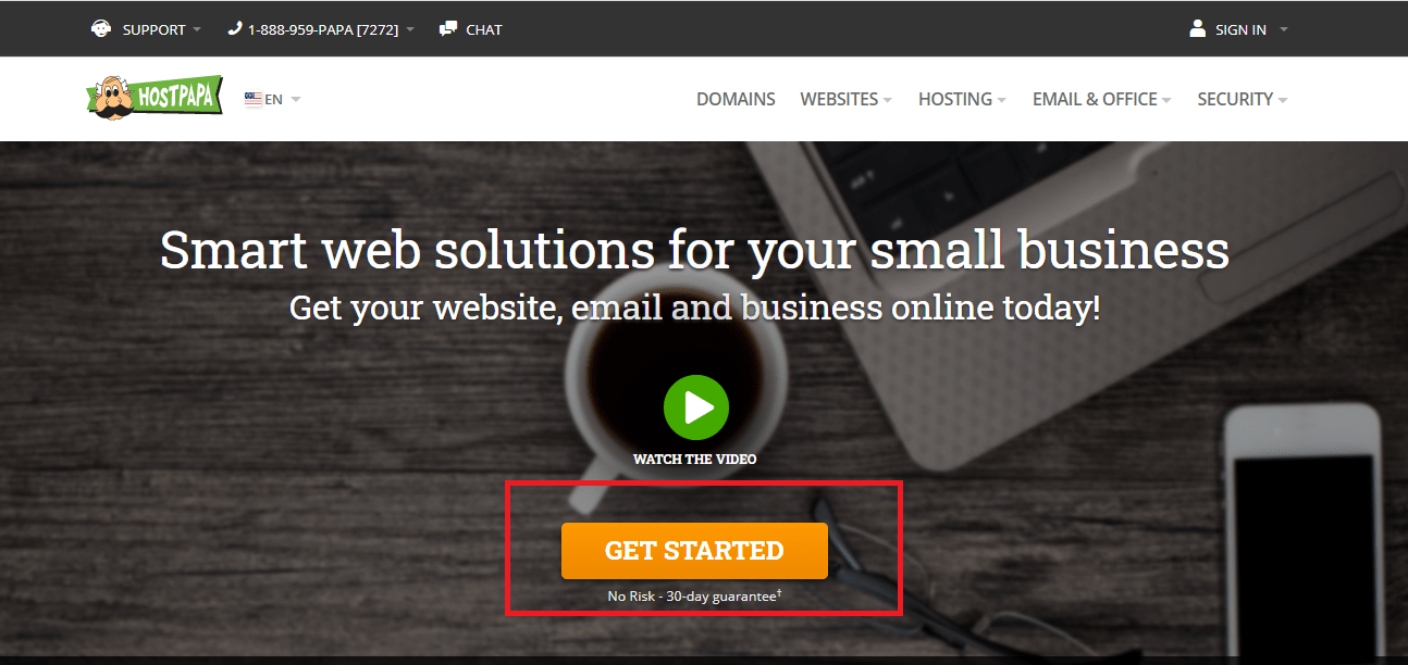 HostPapa official website