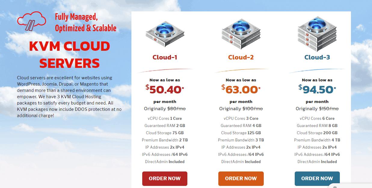 KnownHost cloud hosting plans