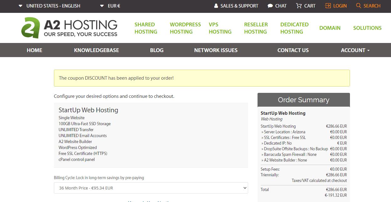 Buy A2 hosting