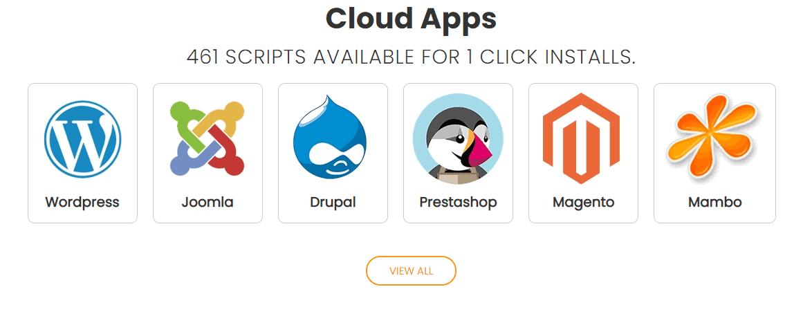 Interserver cloud app for VPS hosting