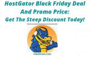 HostGator Black Friday Deal and Sale