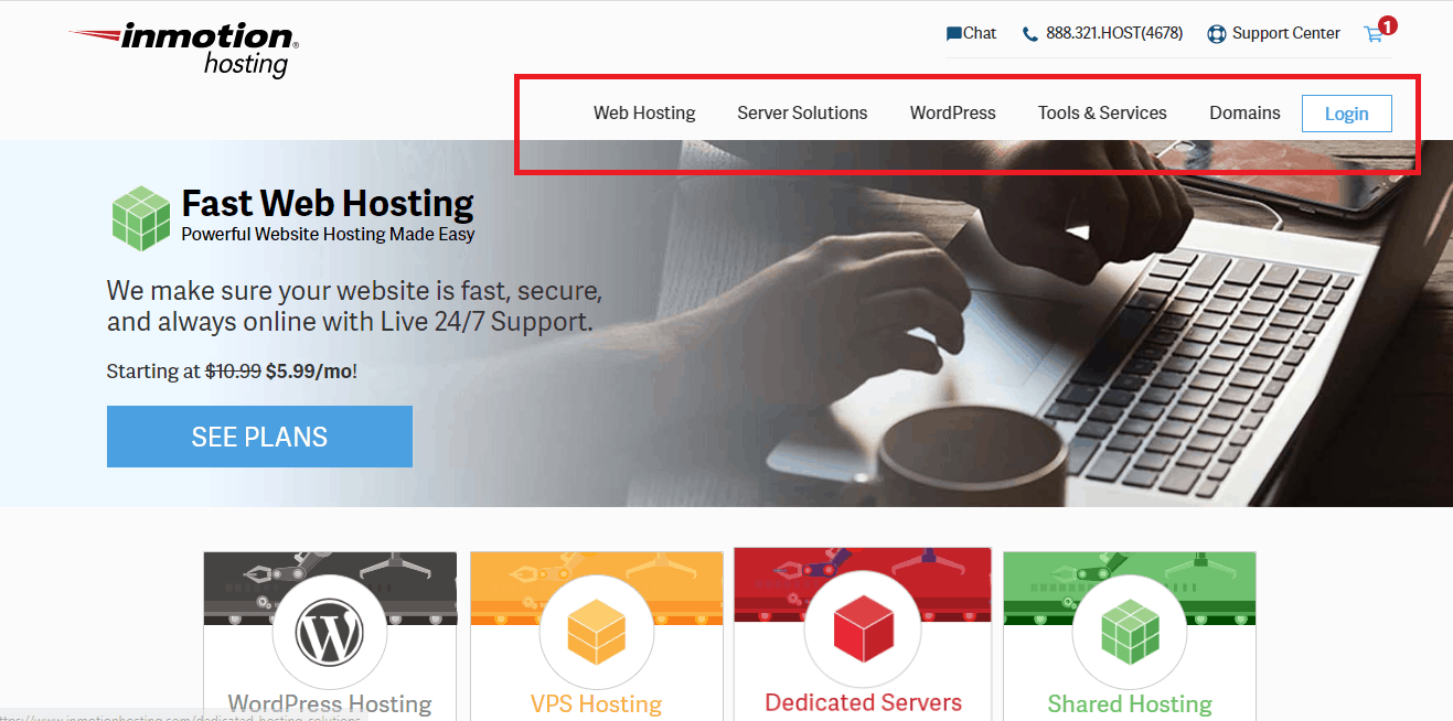 Inmotion hosting services