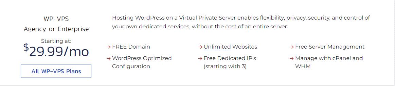 InMotion hosting WP-VPS plan