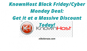 KnownHost Black Friday Deal and Discount