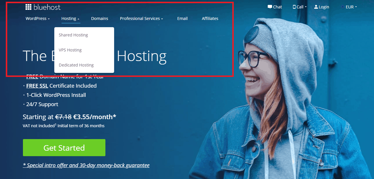 Other bluehost services