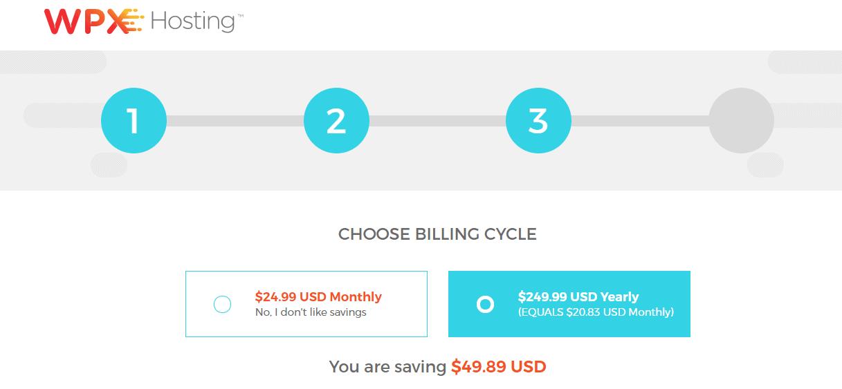 Pick billing cycle
