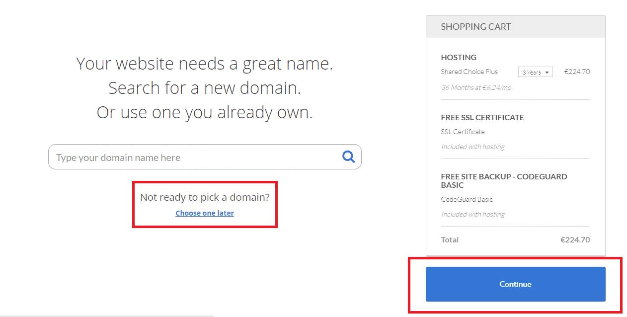 pick a a domain name