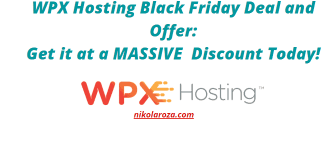 WPX Black Friday Deal and Discount
