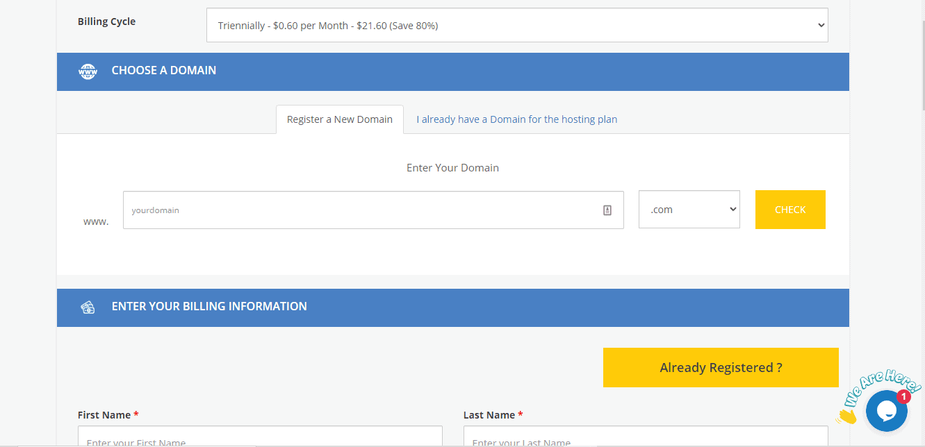 Buy MilesWeb hosting