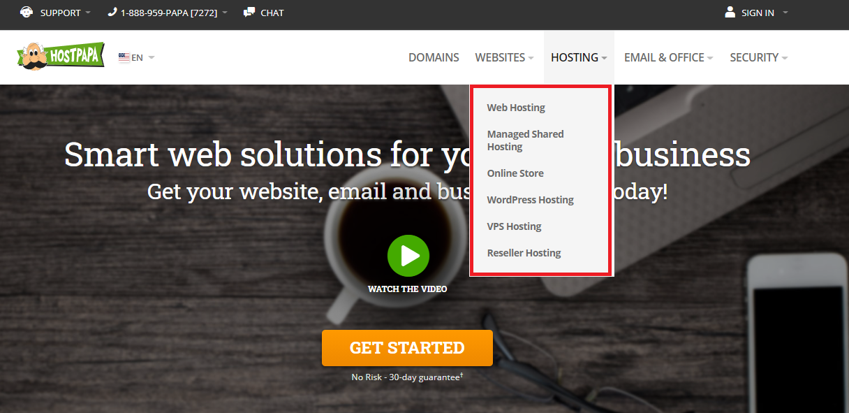 HostPapa hosting services