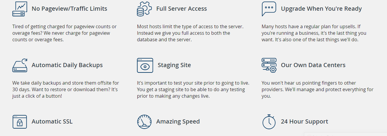 Liquid Web hosting features