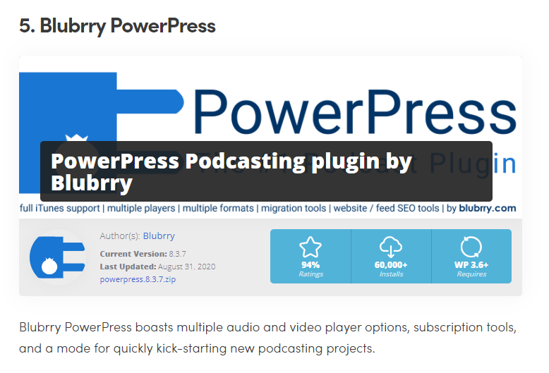 Blubrry PowerPress