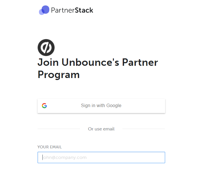 Create partner stack account