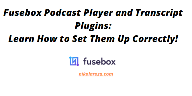 How To Set Up FuseBox Smart Podcast Player So it Gives You The Best Results (Tutorial)