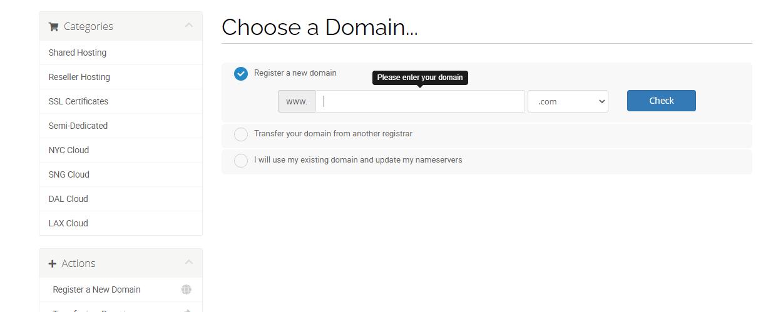 HawkHost pick a new domain name