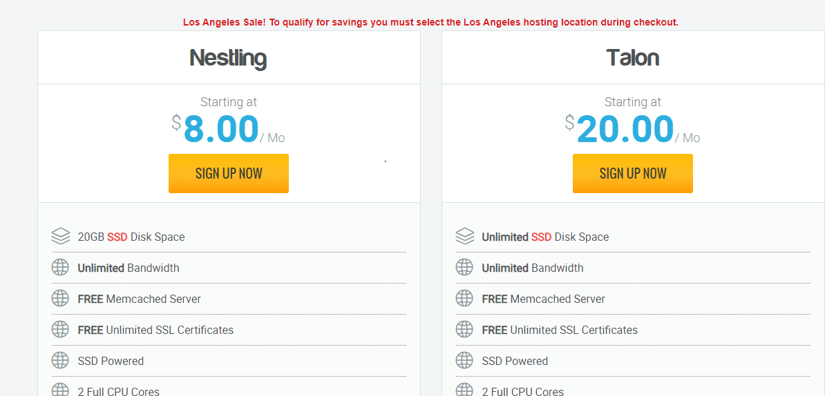 HwakHost Semi-dedicated hosting plans