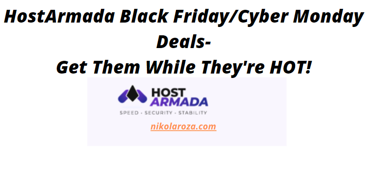 HostArmada black friday/cyber Monday deals and sales 2020