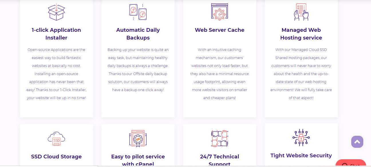 HostArmada web hosting features