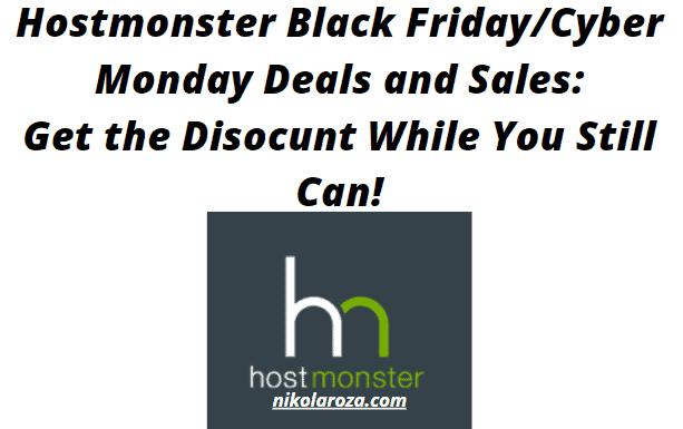 Hostmonster Black Friday/Cyber Monday Deals and Sales 2020