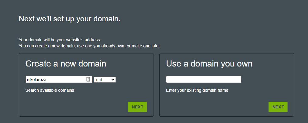 Hostmonster domain name registration service