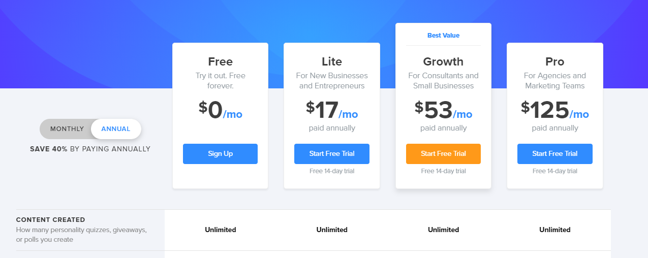 Interact pricing plans and tiers