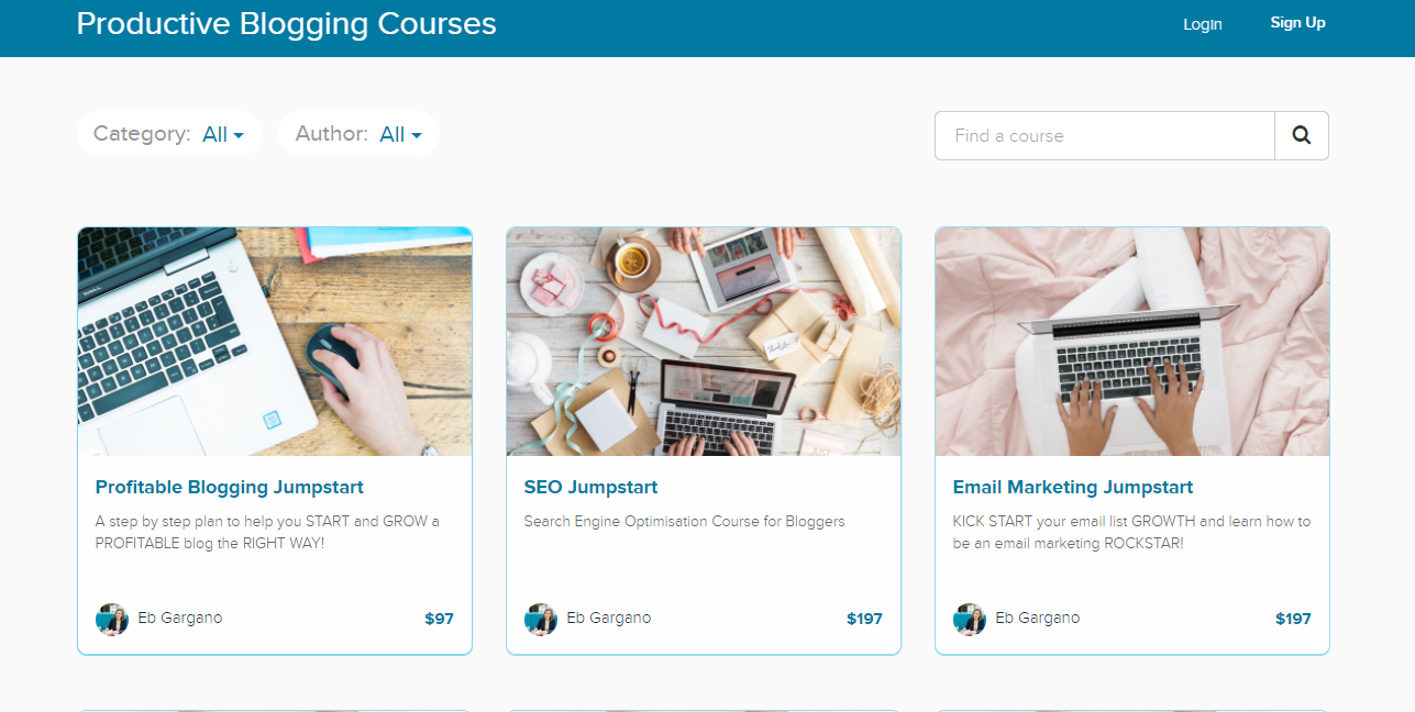 productive blogging courses