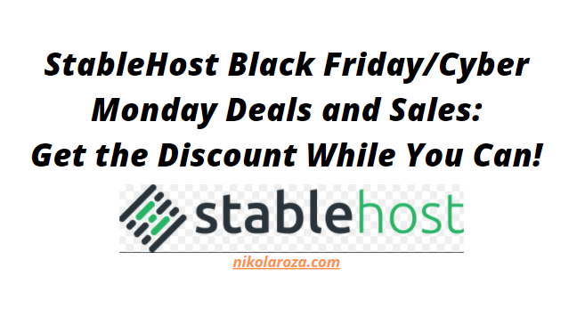 Stablehost Black Friday Deals and Sales 2020
