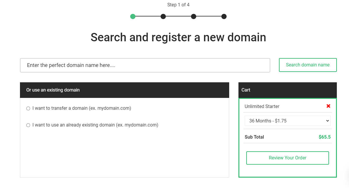 StableHost purchase new domain name