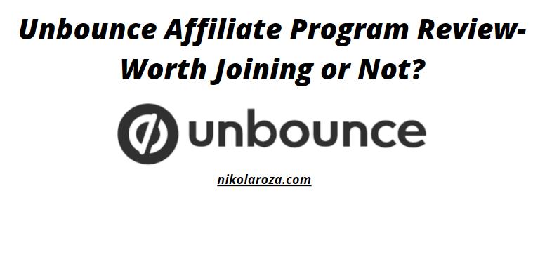 Unbounce affiliate program review