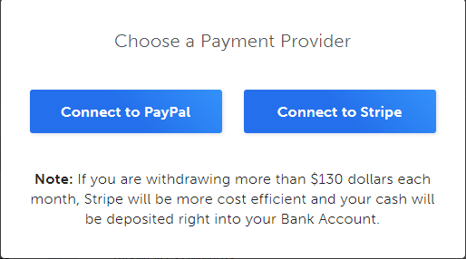 Interact payment methods- Paypal and Stripe