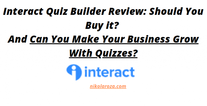 Interact quiz builder review